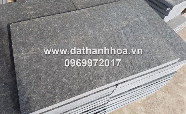 đá bazan đen cao cấp được cắt lát tại xưởng