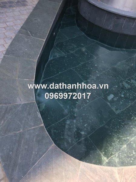 Mẫu đá lát bể bơi bằng đá xanh Thanh Hóa