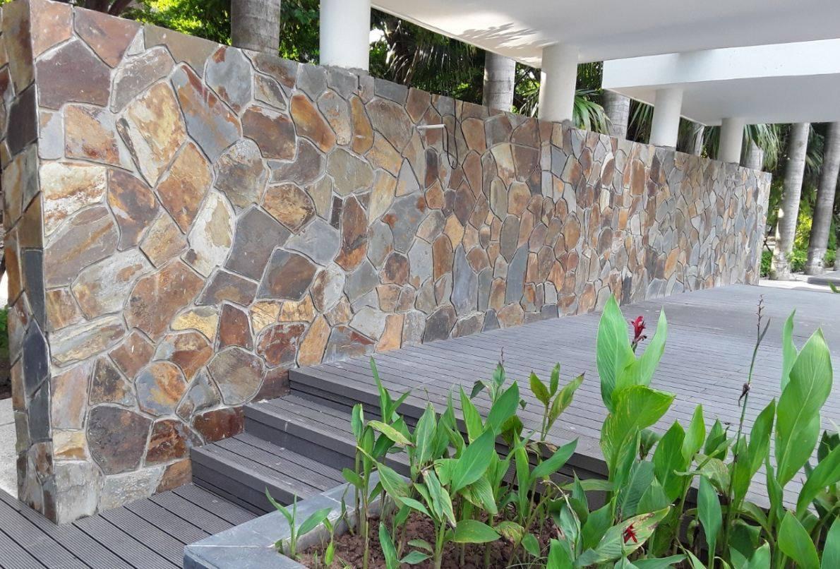 đá rối đa sắc ốp tường